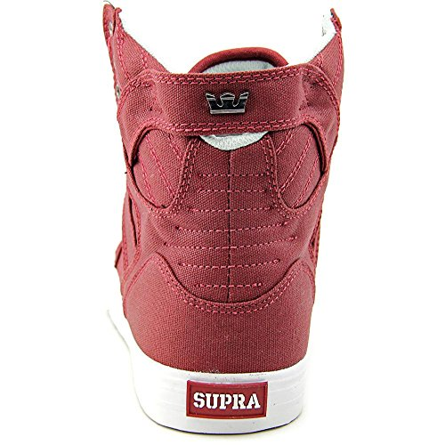 Supra Damen Skytop Sneaker Burgunder-weiß