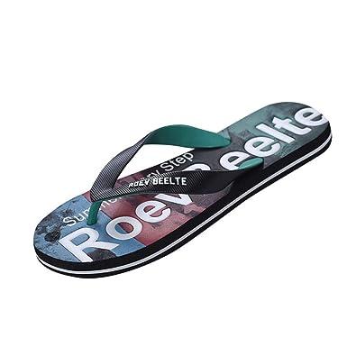 379f7f4455e4 Amazon.com: Sumen Mens Flip Flops Summer Mixed Colors Beach Sandals ...