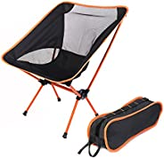 HAPPYX Portable Camping Chair, Compact Ultralight Folding Backpacking Chairs Aluminum for Outdoor, Camp, Picni