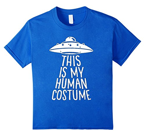 Kids this is my human costume hoppy halloween creepy tshirts 4 Royal (A Human Costume)