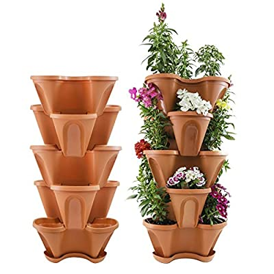 Houseables Stackable Tiered Planters