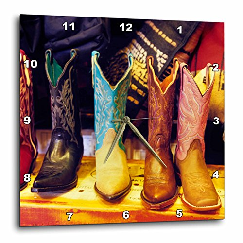 3dRose dpp_92617_3 Cowboy Boots, Old Town Albuquerque, NM - US32 JGI0001 - Jerry Ginsberg - Wall Clock, 15 by - Outlets Albuquerque