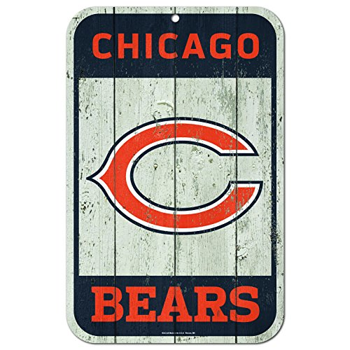 - WinCraft NFL Chicago Bears Distressed Wood Logo Sign, 11 x 17-inches
