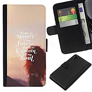 Stuss Case / Funda Carcasa PU de Cuero - El destino del alma Sunset inspirada - Sony Xperia Z2 D6502