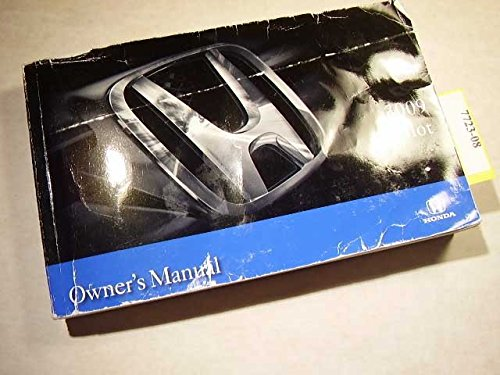 2009 Honda Pilot Owners Manual
