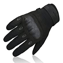 OMGAI Men's Full Finger Motorcycle Gloves for Airsoft Tactical Hiking Camping Outdoor Sports