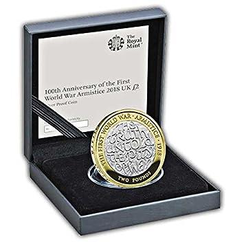 Amazonde Die 2018 Waffenstillstand Uk Silber 2 Pfund Münze In
