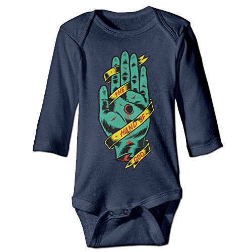 [Raymond HAND OF GOD Long Sleeve Romper Bodysuit Outfits Navy 6 M] (Wicked Musical Costumes Sale)