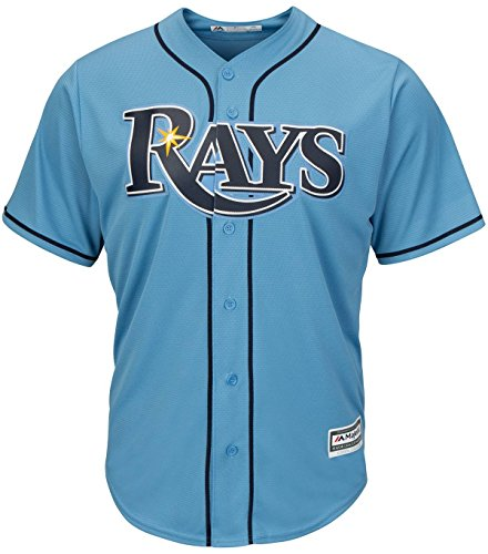 Tampa Bay Rays Alternate Columbia Blue Cool Base MLB Men's Jersey (Large)