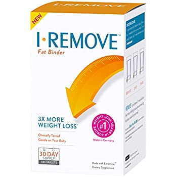 I-REMOVE Weight Loss Pills, Diet Supplement, Clinically Tested Fat Binder Tablets, 30-Day Supply