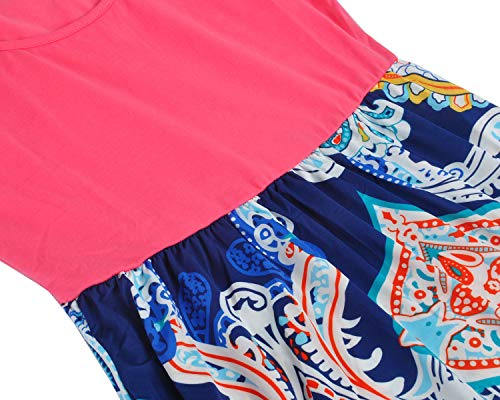 Spiaggia Flowy Women`s Vestito Da Partito 1353 Demetory Lunga Estate Vita Dell'impero Maxi coral Boho Yqgw0pY