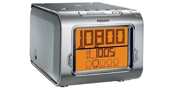 Philips CD Clock - Radio (Reloj, Digital, AM,FM, 2 W, Plata, 2,5 kg): Amazon.es: Electrónica