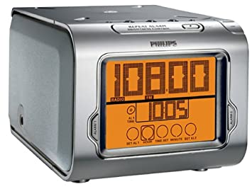 Philips CD Clock - Radio (Reloj, Digital, AM,FM, 2 W, Plata, 2,5 kg): Amazon.es: Electrónica