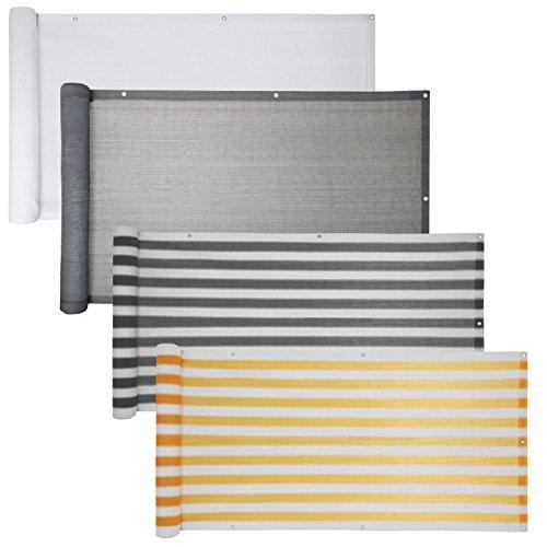 Balkon Sichtschutz verschiedene Modelle - Balkonbespannung Balkonsichtschutz Balkonverkleidung 6 Meter (0,75 x 6,0 Meter, Grau)