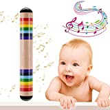 Colorful Wooden Rainstick Musical Instrument Toy Introduce the World of Music and Rhythm for the Kids and Toddlers