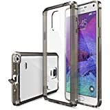 Ringke Cell Phone Case for Samsung Galaxy Note 4 - Retail Packaging - Smoke Black