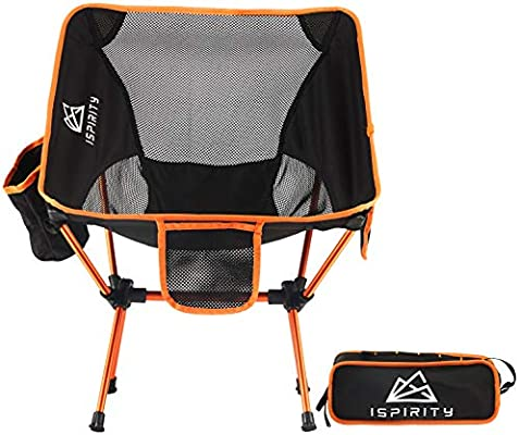 Amazon.com: ISPIRITY Silla plegable de acampada, ligera y ...