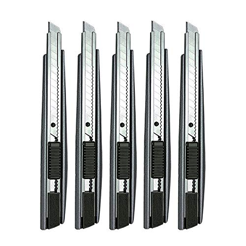 (ARTGEAR 5pcs Professional Cutter Knife / 9mm Snap Off Blades / 60 Degree Foil Knife/Utility Knife/Graphic Knife/Great for Foils, Wallpaper, Crafts, Cartons )