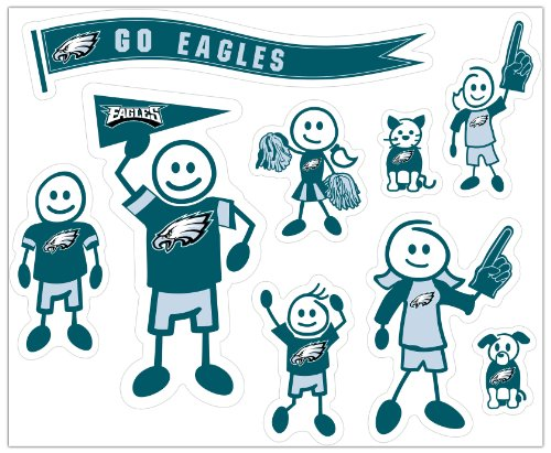 Siskiyou NFL Philadelphia Eagles Large Family Decal Set