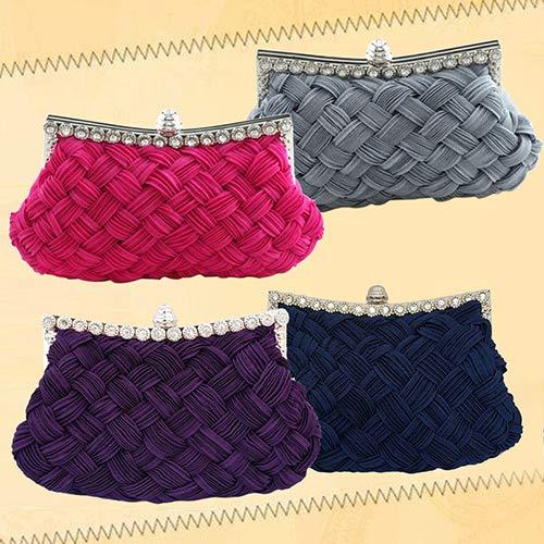 Violet Pour Pochette Gris Femme Bangle009 BqI0Rn1xR