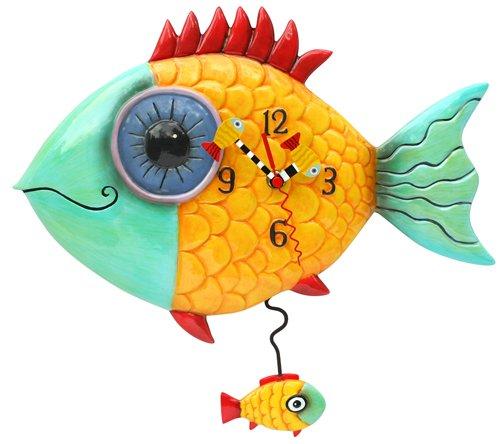 Allen Designs Wide Eyed Fishy Pendulum Clock
