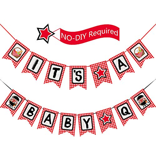 Picnic Party Banner BBQ Baby Shower Birthday Party Decorations Baby Q Banner for Summer Barbecue Picnic Party Supplies