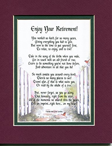 A Poem For Retirement Gift Present #203 (Retirement Poems)