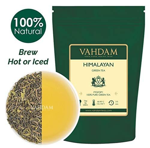 (VAHDAM, Green Tea Leaves from Himalayas (100+ Cups) 9oz Bag - 100% Natural Weight Loss Tea & Slimming Tea - Powerful Anti-OXIDANTS, Brew Hot Tea, Iced Tea or Kombucha Tea, Green Tea Loose Leaf)