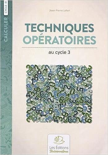 En ligne Techniques opératoires au cycle 3 pdf