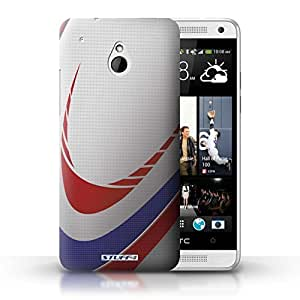 KOBALT? Protective Hard Back Phone Case / Cover for HTC One/1 Mini | Rugby Design | Sports Balls Collection