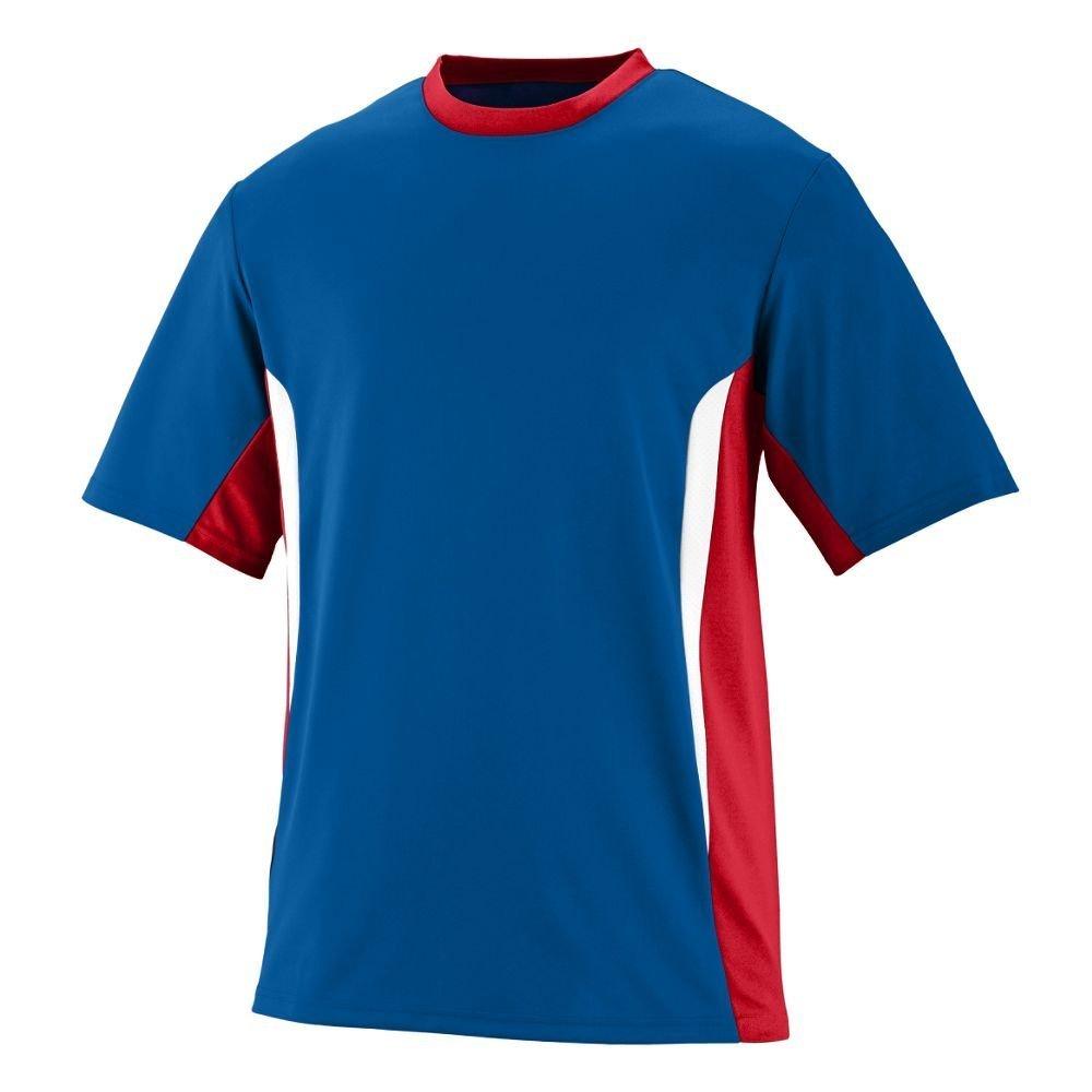 Augusta Sportswearメンズサージジャージー B00HJTKGQS Large|ロイヤル/レッド/ホワイト ロイヤル/レッド/ホワイト Large