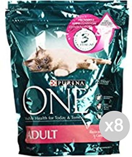 Purina Juego 8 One Gato Croccantini 800 Salmón Arroz Comida para Gatos: Amazon.es: Productos para mascotas