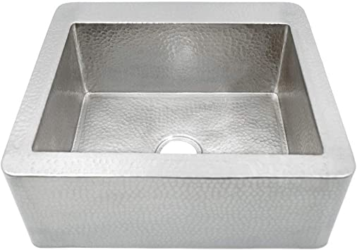 Native Trails Farmhouse Hand Hammered Brushed Nickel 25 Inch Kitchen Farmhouse Sink Amazon Com