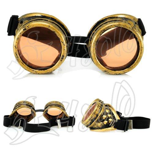 Balck Goth Vintage All Victorian Noir Multicolore Cyber Rave Pictures soleil Steampunk Copper de Antique Orange Goggles 4sold Like M Lunettes xgwAUY0q