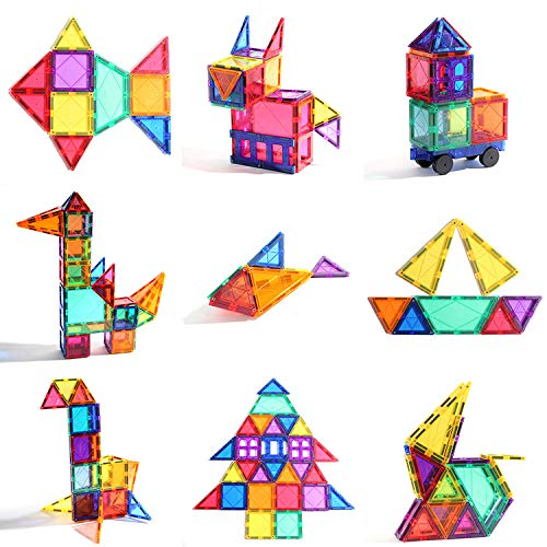 KUHU Magnetic Assembly Toy Light Magnetic Building Blocks Color Window Magnetic Piece Children Assembled Toys by KUHU (Image #2)