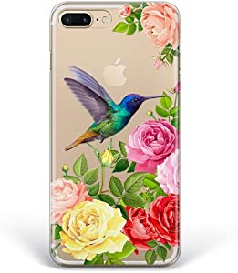 Kaidan iPhone 12 Pro Max Case Clear X XR XS 11 Hummingbird SE 6S 6 7 8 Plus Roses Samsung Galaxy S10 S8 S9 + Note 20 Ultra 10 Lite 9 Garden S21 S20 FE Google Pixel 4 XL Exotic Bird Compatible LG DL293