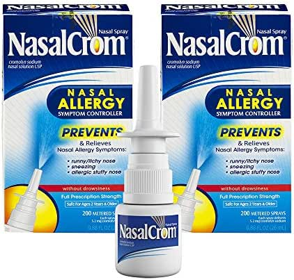 NasalCrom Nasal Spray Allergy Symptom Controller | 200 Sprays | .88 FL OZ | 2 Pack