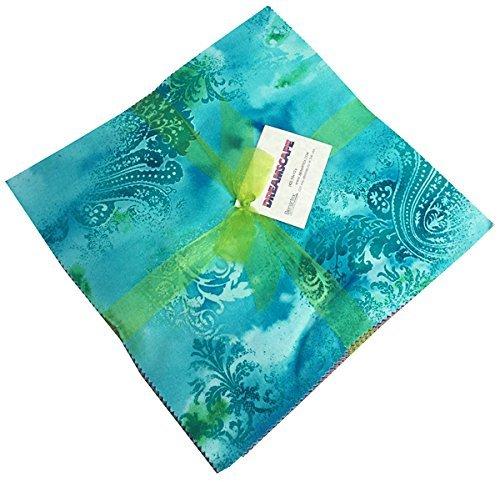 Benartex DREAMSCAPE 10-inch Precut Squares Cotton Fabric Quilting Assortment Layer -