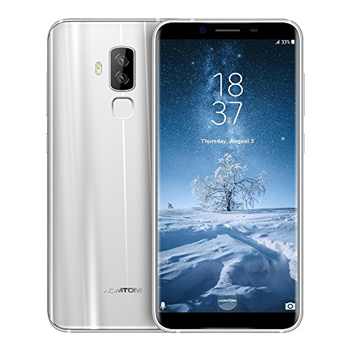 HOMTOM S8 4G Smartphone 5.7 Zoll 18:9 Bildschirm Verhältnis MTK6750T Octa Core 4GB RAM 64GB ROM 16MP + 5MP Doppelte Ruckkamera Intelligente Geste Fingerabdruck fur Android 7.0 (silber)