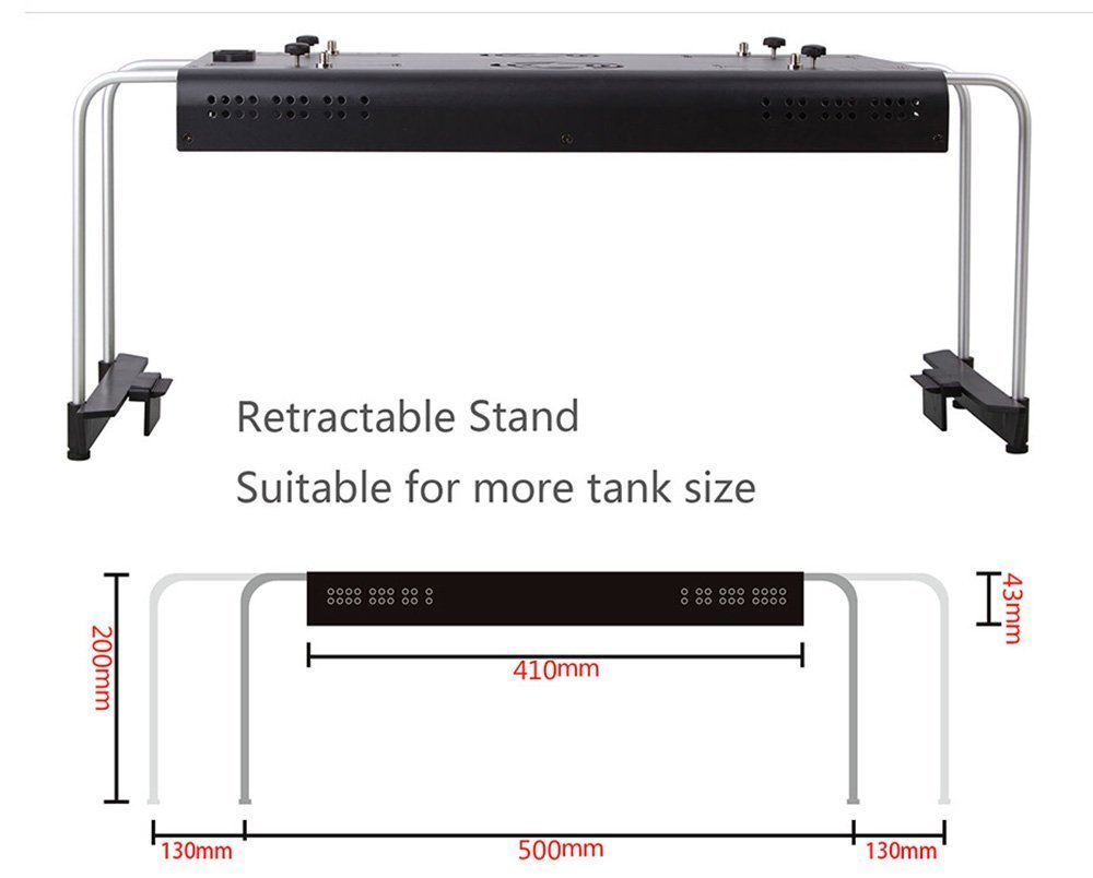 Oceanrevive Arctic T247 Full Spectrum Dimmable 120w T5 Ballast Wiring Q The Reef Tank Led Aquarium Light With Built In Timer Bracket And Remote Control 483w