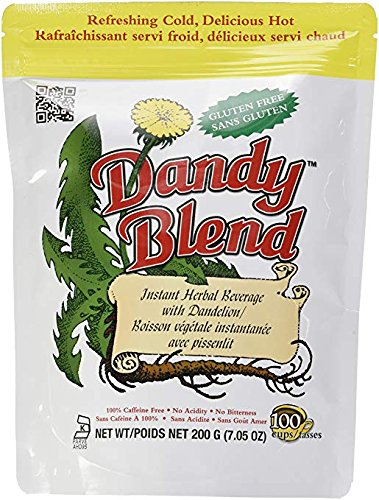 Dandy Blend Instant Herbal Beverage Coffee Substitute with Dandelion -100% caffeine-free, gluten free, NO GMO's
