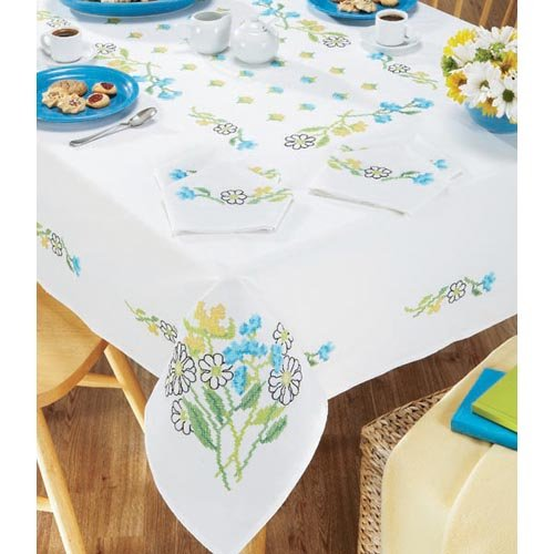 (Heaven and Earth Designs Craftways Goldenrod Table Linens Stamped Cross-Stitch)