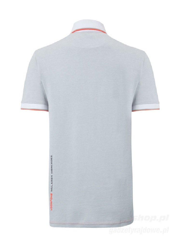 McLaren Mercedes F1 equipo gris algodón piqué Polo de manga corta ...