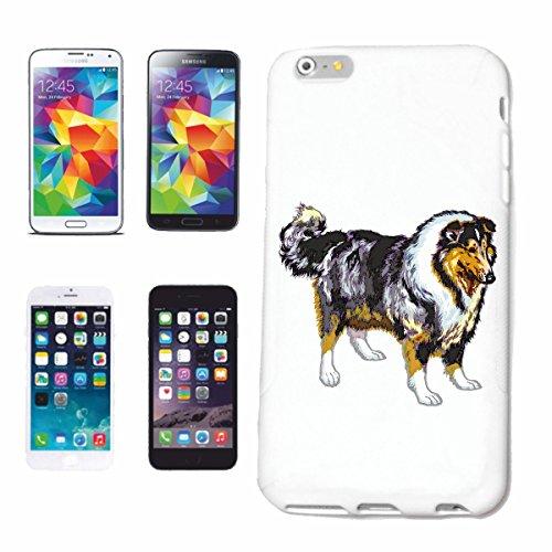 """cas de téléphone iPhone 7S """"RACES Chien Border Collie MAISON CHIENS KENNEL ÉLEVEURS PUPPY FORMATION CARE"""" Hard Case Cover Téléphone Covers Smart Cover pour Apple iPhone en blanc"""