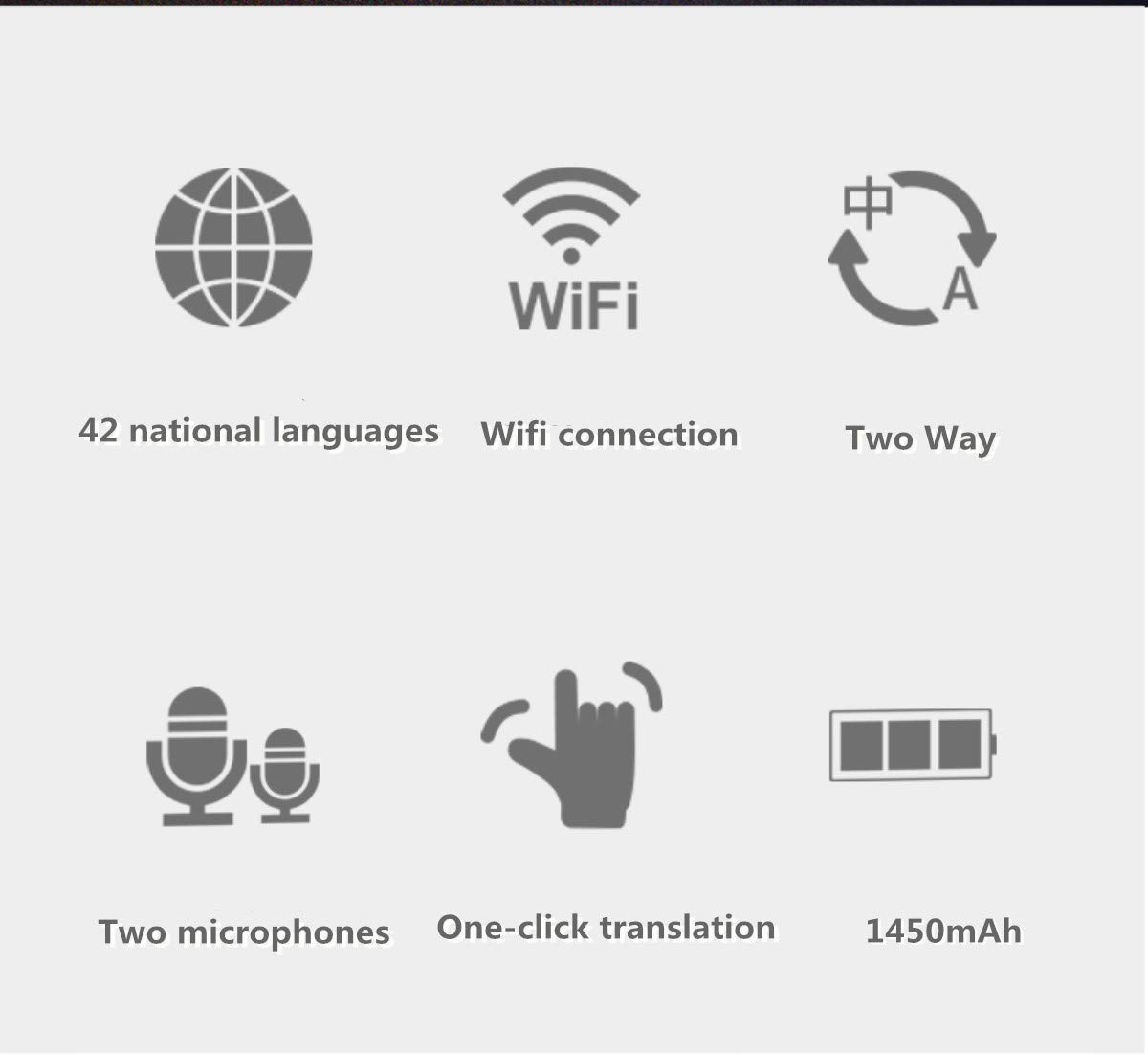 Smart Voice Translator Device with WiFi or 4G Touch Screen Support 41 Difference Foreign Languages Translated(Black) (Black) by Zuchini (Image #6)
