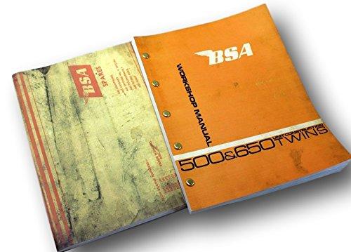 Bsa 500 650 A65 Lightning Service Repair Parts Manuals Unit Construction Twins Unit Repair Part