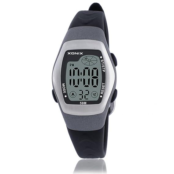 Niños reloj led digital multifunción impermeable natación chica estudiante reloj digital-C: Amazon.es: Relojes