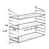 YG Intashj Floating Unit Frame Wall Bookshelf Separator Iron Wood Wall Shelf Wall-Mounted Storage Rack Wall Decoration Retro Industrial Style,100CM