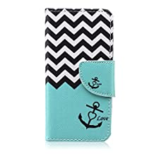 "Apple iPod Touch 5 Case,Apple iPod Touch 6 Case,Bujing Color 09 Pattern,Synthetic Leather+Soft TPU Card Slot Stand Wallet Case Only For Apple iPod Touch 5/Touch 6(4.0"")"