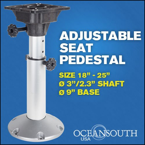 Boat Seat Pedestal Adjustable 18''-25'' by Oceansouth